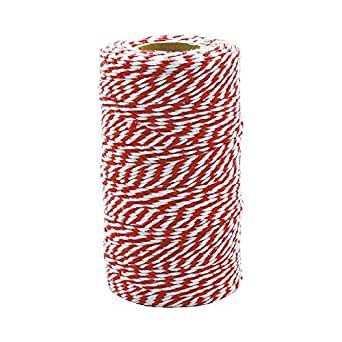 DULTON(ダルトン) 糸巻 ツイステッド ストリング ホワイト/レッド TWISTED STRING WHITE/RED GS555-266A