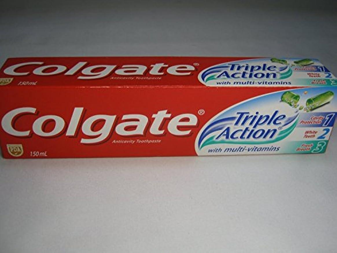 軍波紋高度Colgate Triple Action Toothpaste コールゲート トリプルアクション 歯磨き粉 [並行輸入品]