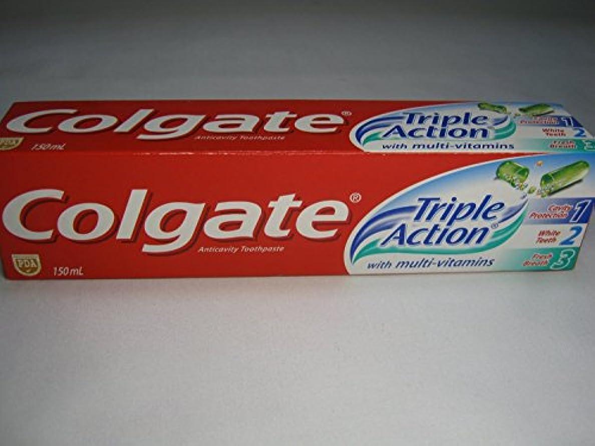 乱れ文句を言う結婚式Colgate Triple Action Toothpaste コールゲート トリプルアクション 歯磨き粉 [並行輸入品]
