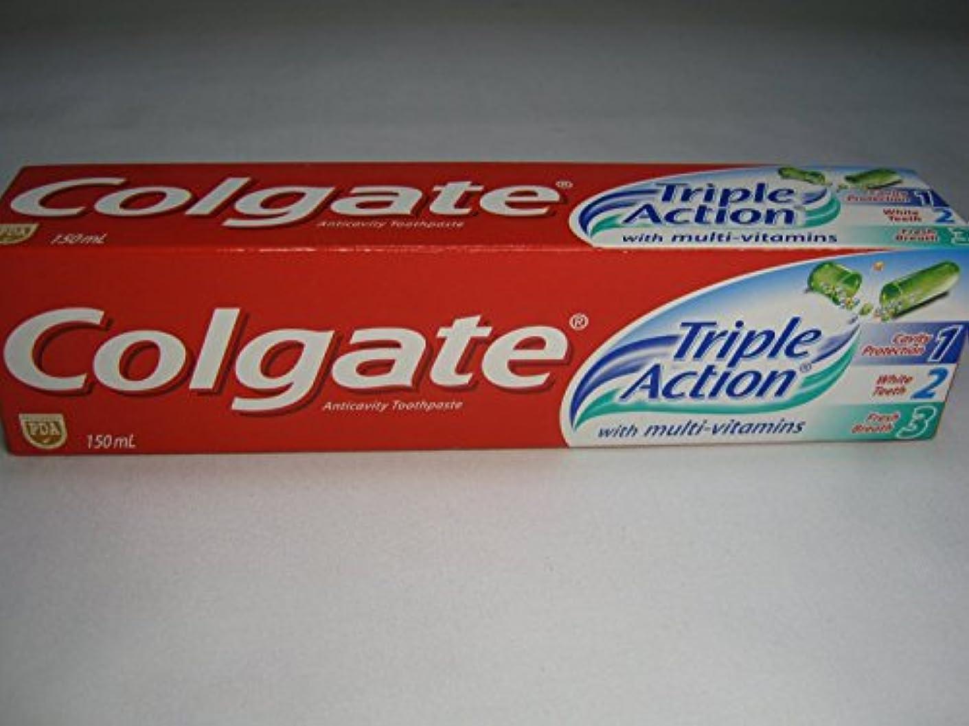 悪性真剣に電気技師Colgate Triple Action Toothpaste コールゲート トリプルアクション 歯磨き粉 [並行輸入品]