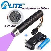 TMWT 5 ワット LED UV ランプ 18650 バッテリー 365 365NM 紫外線懐中電灯ほんど強力