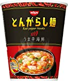 Best ラーメン - 日清のとんがらし麺 うま辛海鮮 64g×12個 Review