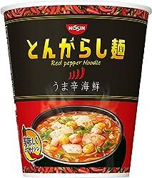 日清のとんがらし麺 うま辛海鮮 64g×12個