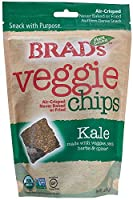 Brad's Plant Based, USDA Organic オーガニック, Gluten Free, Veggie Chips, Kale, 3 Ounce (4 Count) (Packaging may vary)