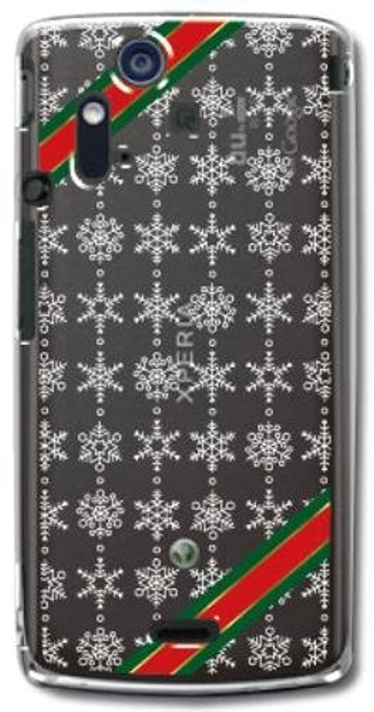 補正着飾る骨【Paiiige】 スノークリスタル (クリア)/ for Xperia acro SO-02C/Docomo専用ケース DCACRO-100-A016