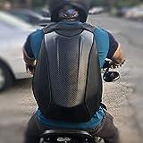 Motorcycle Backpack Waterproof Bag Men - Hard Shell Backpack Carbon Fiber Motorbike Helmet Backpack Waterproof Large Bag For