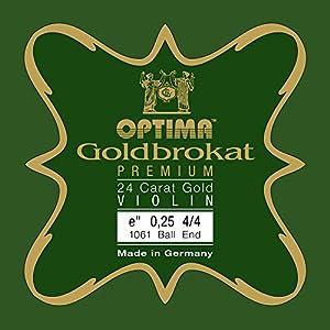 ゴールドブロカット バイオリン弦 4/4 E 0.27 mmループ プレミアム24K金メッキ