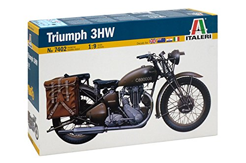 イタレリ 7402 1/9 トライアンフ 3HW WWII 軍用オートバイ