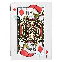 Recaso(レカソ)ブラック ジャック カード ゲーム カジノ ディーラー デッキ 女性 運 ベガス iPad 2/iPad 3/iPad 4 ケース Apple iPad2/3/5 第二世代 第三世代 第四世代タブレット用半透明PC+PUレザー 四つ折型