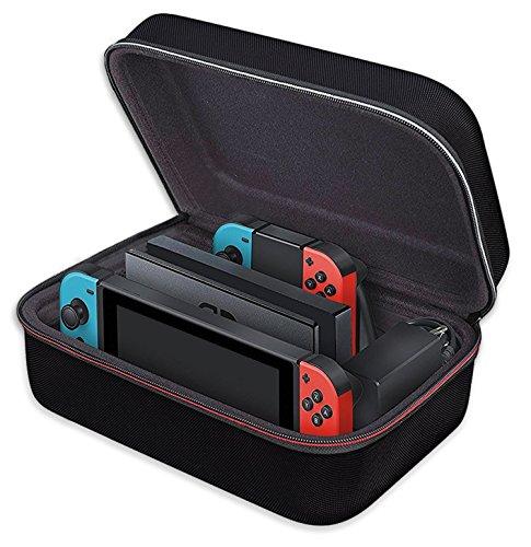 Nintendo switch 収納 バッグ ivoler ニンテンドースイッチ 大容量 ケース 全面保護 便利 まるごとバック ブラック
