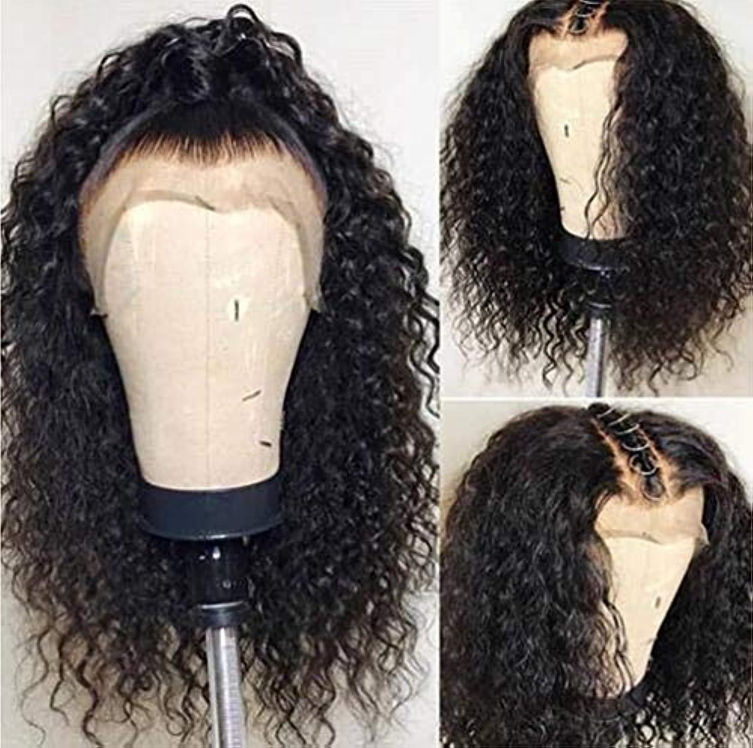 インタネットを見る裁判官電話する女性ウィッグ150%密度カーリーレースウィッグ人毛グルーレスサイドパーツ変態カーリーショートボブレースフロントウィッグレミー髪