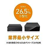 【Amazon.co.jp限定】BUFFALO 外付けハードディスク 4TB テレビ録画/PC/PS4/4K対応 静音&コンパクト 日本製 故障予測 みまもり合図 HD-AD4U3 画像