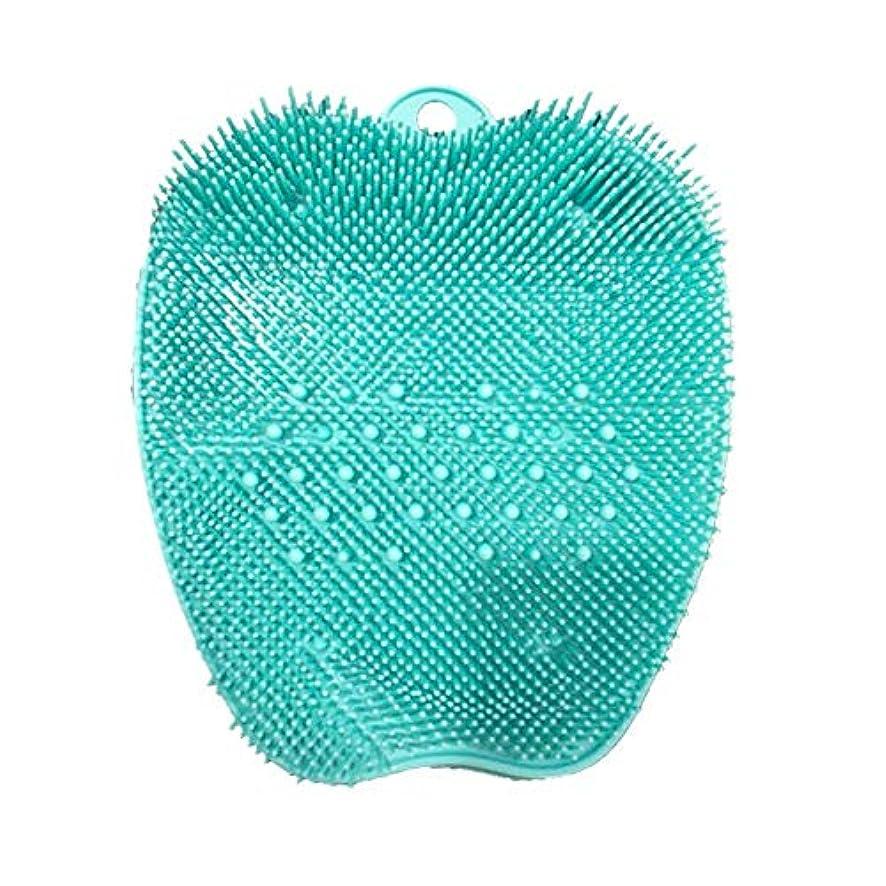 蛾生息地解体するLITI 足洗いマット 足洗いブラシ 滑らない吸盤付き フットケア フットブラシ 角質ケアブラシ お風呂で使える
