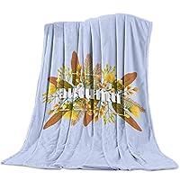 毛布 秋 樹葉 果実 花柄 ブランケット エアコン対策 敷き毛布 フランネル シングル 暖かい 掛け毛布 洗える 柔らかい ふわふわ 軽い掛け布団 発熱効果 マイクロファイバー 100×125cm