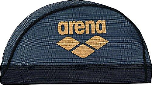 [해외]arena (아레나) 수영 모자 메쉬 ARN-6414 블랙 × 골드 L/arena (Arena) swim cap mesh ARN-6414 black × gold L
