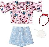 バービー ハローキティ ピンクトップとブルーショーツ ファッションパック