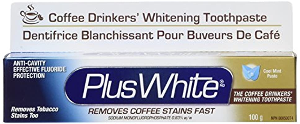 水星リクルートディスコPlus White, The Coffee Drinkers' Whitening Toothpaste, Cool Mint Flavor, 3.5 oz (100 g)