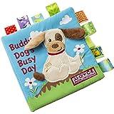 赤ちゃんの動物の布の本幼児の子供の知性の開発おもちゃのベッドは、書籍を認識する (子犬)