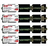 Komputerbay 16GB (4x 4GB) DDR2 PC2-6400F 800MHz ECC Fully Buffered FB-DIMM (240 ピン) 共 ヒートスプレッダ, 対して Apple コンピュータ MAC PRO 2008 3,1 (2.8 3.0 3.2)