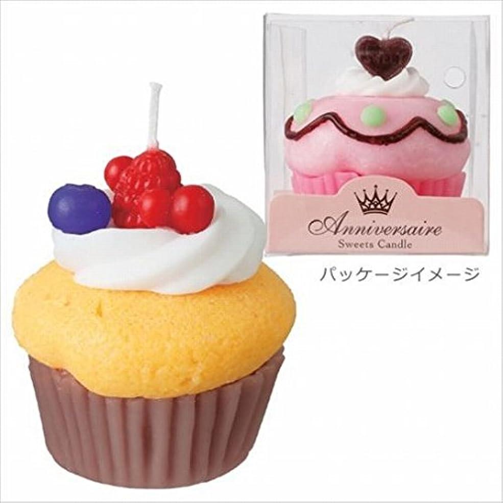磁器撤回する演劇カメヤマキャンドル( kameyama candle ) カップケーキキャンドル 「 マンゴーカップケーキ 」