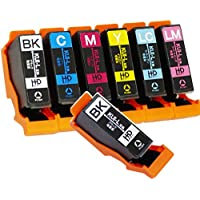 【7本セット】 エプソン 用 KUI (クマノミ) 互換インク 【基本の6色セットに黒を1本追加!】 ISO14001/ISO9001認証工場生産商品 残量表示対応ICチップ 1年保証 インクのチップスオリジナル 対応機種: EP-879AB / EP-879AR / EP-879AW / EP-880AB / EP-880AN / EP-880AR / EP-880AW