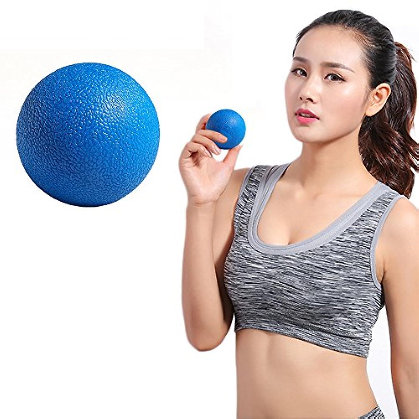 適合風味推測するZafina マッサージボール トリガーポイント ストレッチボール 筋膜球 筋膜リリース 指圧ボール 首から足裏まで全身に使える 血液循環 エクササイズグッズ 1個入り (ブルー)