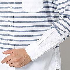 Airy Oxford Horizontal Stripe Buttondown Shirt 111-14-0183: White