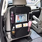 Qtuo 車用シートバックポケット 車用収納バッグ 後部座席専用