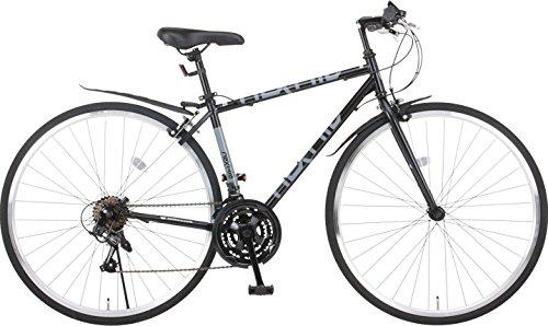 Nex Tyle(ネクスタイル) クロスバイク 700C シマノ製21段変速 NX-7021 適用身長155cm以上 (ブラック)