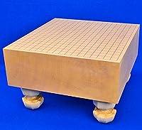 スタンダードな厚みの木製足付碁盤■囲碁盤 新かや5寸足付碁盤 ※将碁屋椿油付き