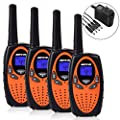 Befove Walkie Talkies, Rechargeable 22 Channel Two Way Radios Long Range Handheld Walkie Talky for Kids Adult