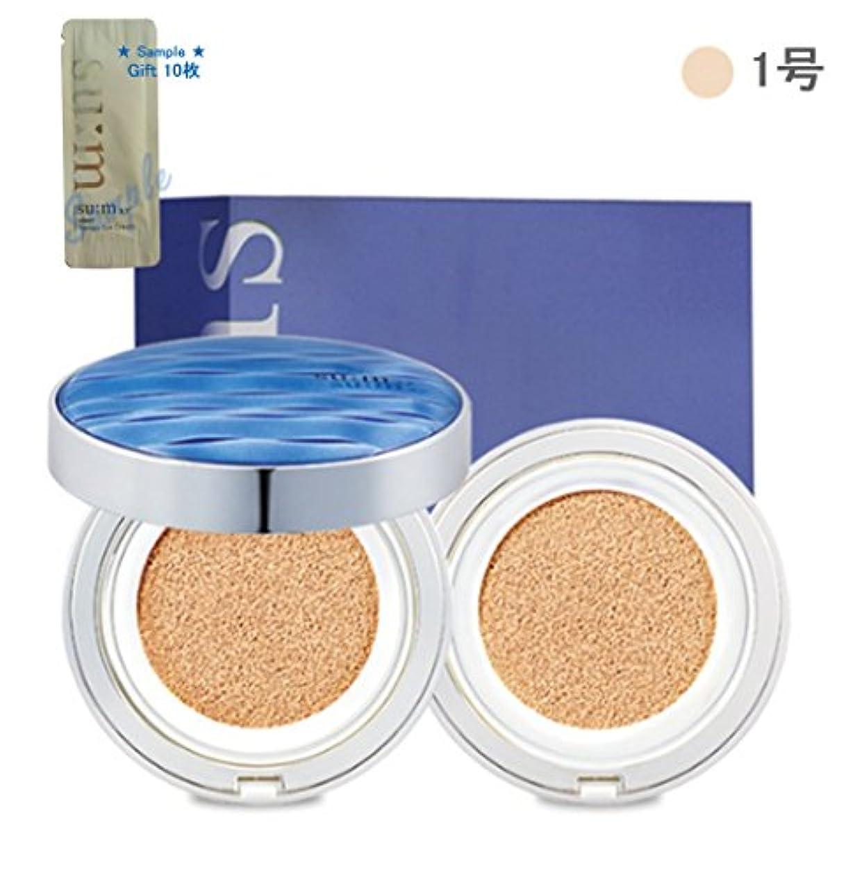 キャプチャーアジャ札入れ[su:m37/スム37°]Water Full CC Cushion Perfect finish No. 1 (SPF50+/ PA+++) / 水プールCCクッションパーフェクトフィニッシュ1号 +[Sample Gift](海外直送品)