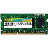 シリコンパワー ノートPC用メモリ 1.35V (低電圧) - 1.5V 両対応204Pin DDR3L 1600 PC3L-12800 4GB 永久保証 SP004GLSTU160N02