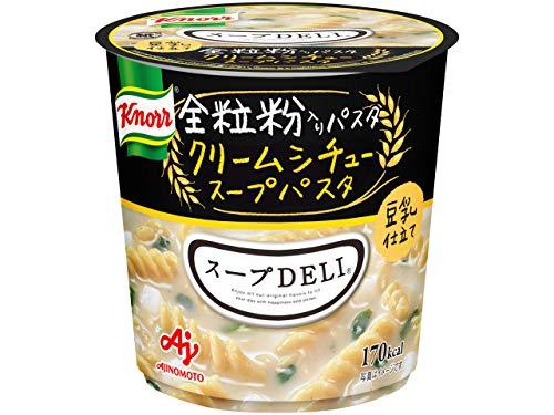 味の素 クノール スープDELI 豆乳仕立て クリームシチュースープパスタ(全粒粉入りパスタ使用) 容器入41.2g×6個
