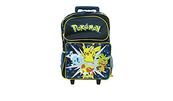"""Pokemon Pikachu Large 16/"""" inches Rolling Backpack /& Lunch NEW Licensed Product"""