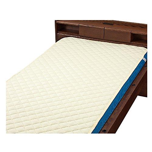 ウェルファン 洗えるベッドパット 綿ポリ ベージュ 93×195cm 009466