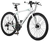 NEXTYLE(ネクスタイル) ディスクブレーキ シマノ製21段変速 自転車 27インチ 700c CNX-7021DC(ホワイト)