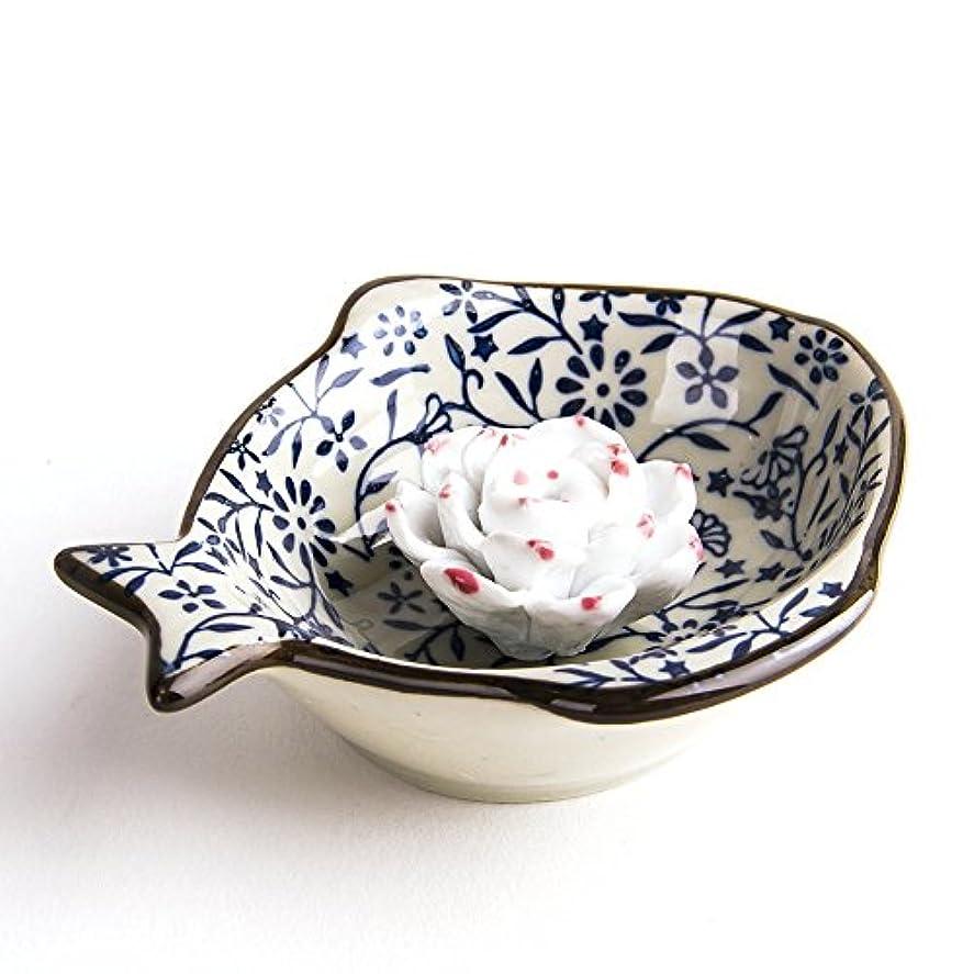 フレアしかしながら注意お香立て お香たて 香の器 お香を焚いて 香皿,陶磁器、ブルー