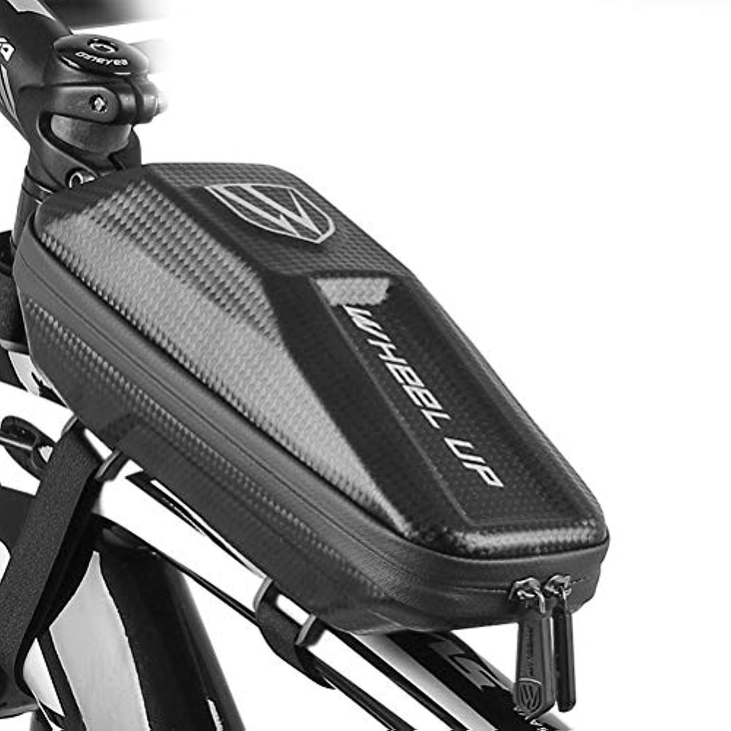 無意味リスクバンジージャンプトップチューブバッグ 自転車 バッグ フレームバッグ 防水 頑丈 大容量 防塵 フレームバッグ サドルバッグ 防水 軽量 大容量 収納アクセサリー ブラック