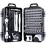 precision screwdriver set,FomaTrade 115 in 1 Professional Screwdriver Set, Multi-function Magnetic Repair Computer Tool Kit Compatible with iPhone/Ipad/Android/Laptop/PC etc (Black)