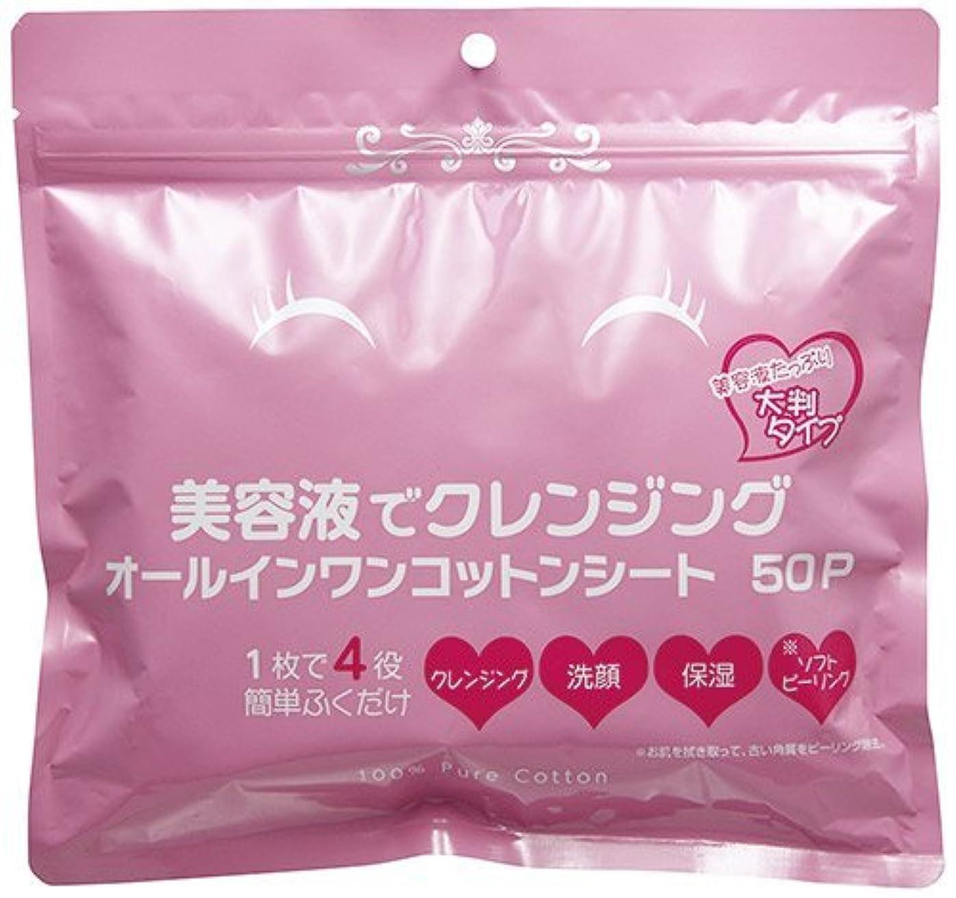凍った可決氏美容液でクレンジング オールインワンコットンシート 50P(50枚入)