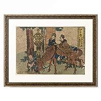 葛飾北斎 Katsushika Hokusai 「東海道五十三次 四日市」 額装アート作品