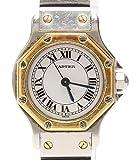 カルティエ サントス オクタゴン クオーツ 腕時計 ホワイト Cartier レディース【中古】