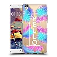 Head Case Designs Hello トロピカル・パステル ソフトジェルケース Oppo R9 Plus