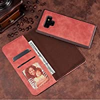 Galaxy Note9 Wallet ケース, Awesome Vintage Cowboy RetroStyle Hand Sling Stand Slim カバー, Money Name ID Credit Card Slots, TAITOU Light Thin Leather Phone ケース For Samsung Galaxy Note 9 Pink