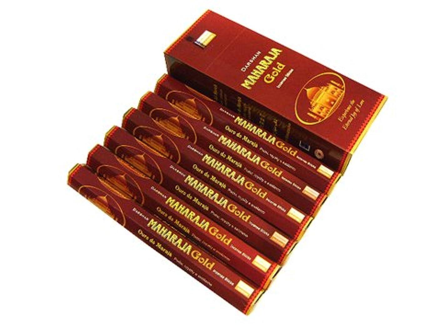 穴行き当たりばったり壊滅的なDARSHAN(ダルシャン) マハラジャゴールド香 スティック MAHARAJA Gold 6箱セット
