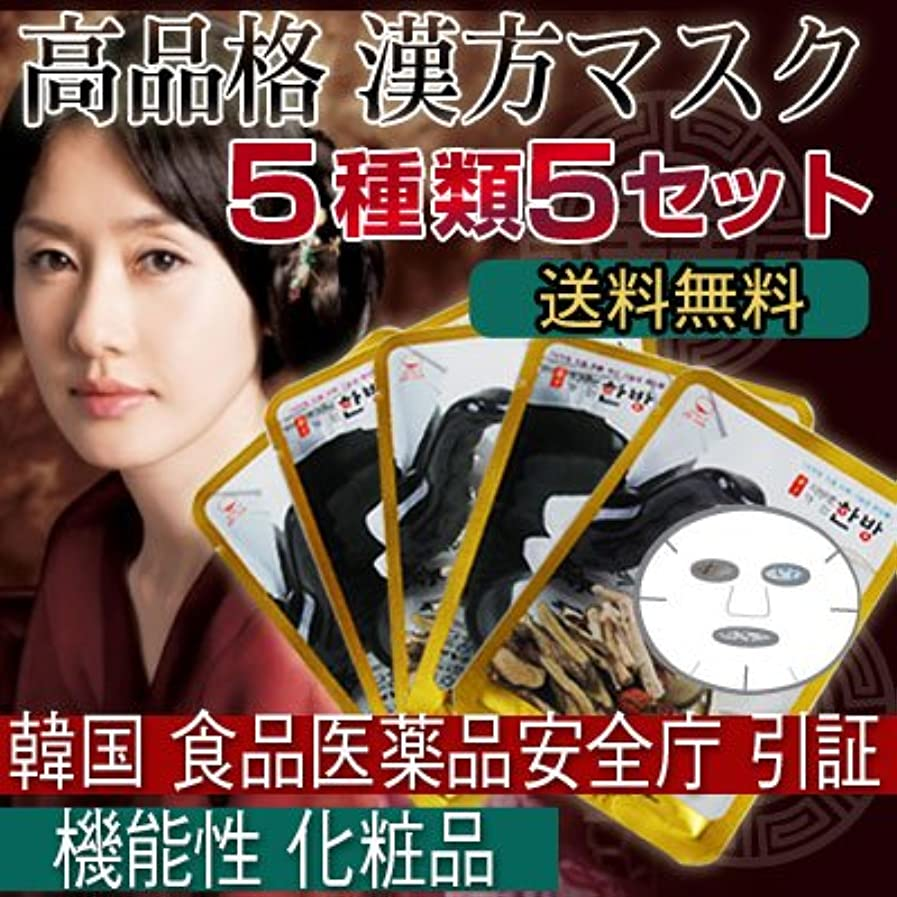 公平な誓い句漢方シートマスクパック 5種類5セット