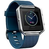 Fitbit フィットビット スマートフィットネスウォッチ Blaze 心拍 睡眠 アプリ通知 健康管理 活動量計 アクティブトラッカー スマートウォッチ Blue ブルー Lサイズ 【日本正規品】 FB502SBUL-JPN