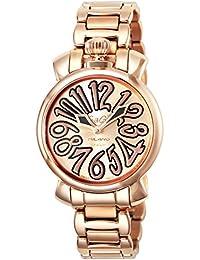 f8858b1ef7 [ガガミラノ]GaGa MILANO 腕時計 MANUALE35mm ピンクゴールド文字盤 ...