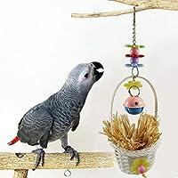 ACHICOO 噛むおもちゃ ペット ラフィット グラス バスケット チュー ペット用品 鳥 おもちゃ